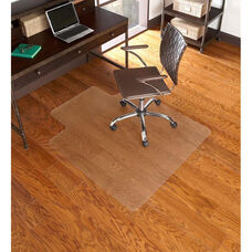 EverLife 36''W x 48''D Hard Floor Chairmat with 20''W x 10''D Lip