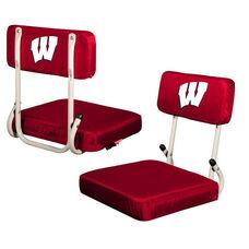 University of Wisconsin Team Logo Hard Back Stadium Seat