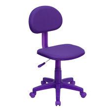 Purple Fabric Swivel Task Office Chair