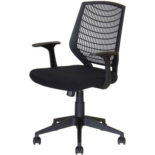 Our Flexo Task Chair with Arms and Poly Back - Black Back and Black Seat is on sale now.