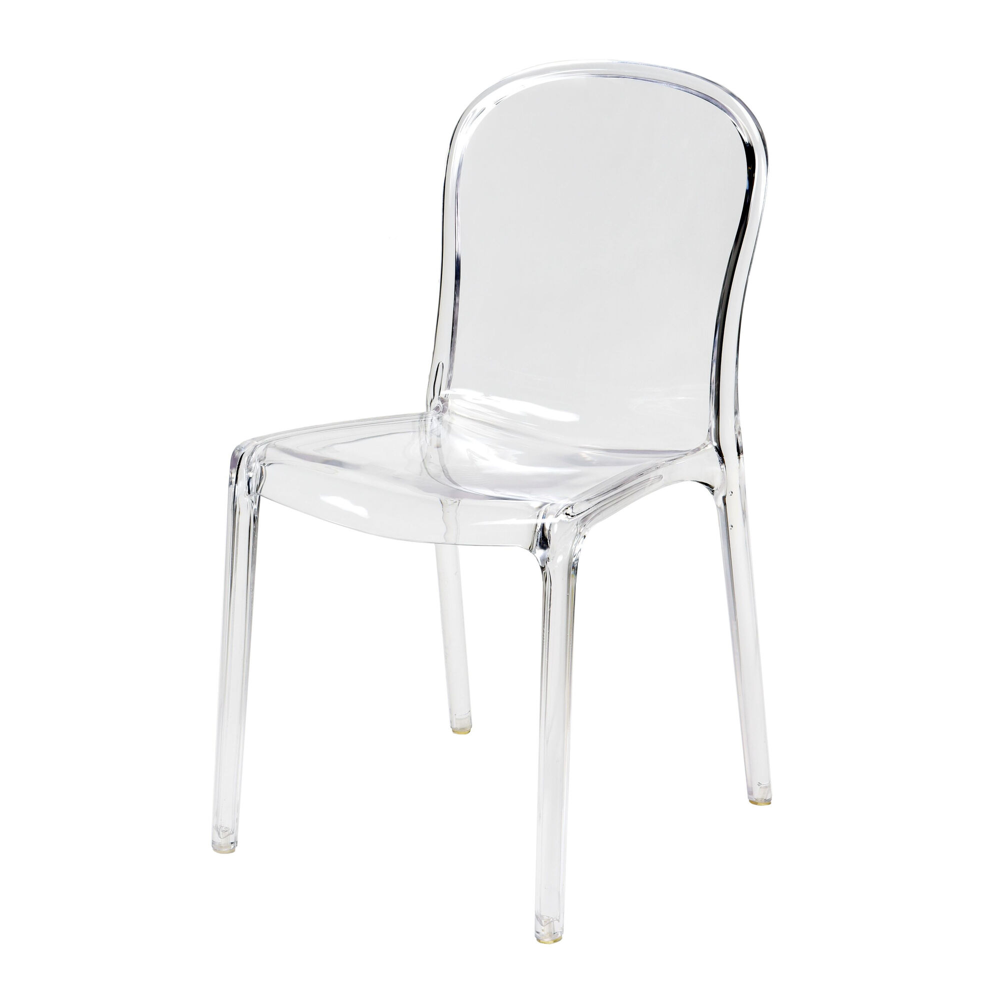 Genoa Polycarbonate Dining Chair - Clear. Hover to zoom