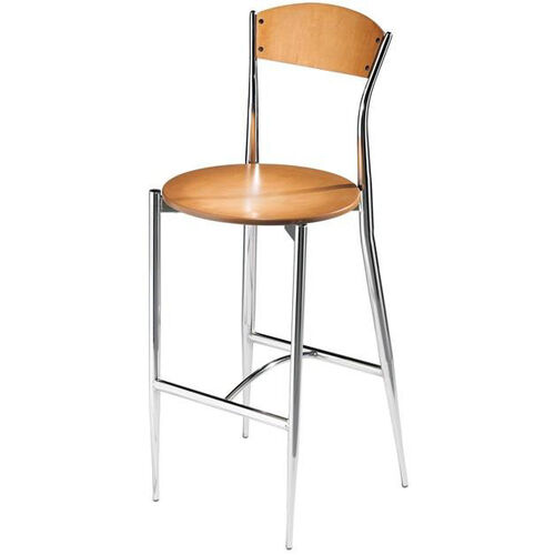 Cafe Twist Maple Ply Wood Back and Ply Wood Seat Barstool