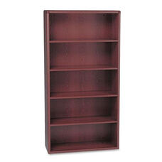 HON® 10700 Series Wood Bookcase - Five Shelf - 36w x 13 1/8d x 71h - Mahogany