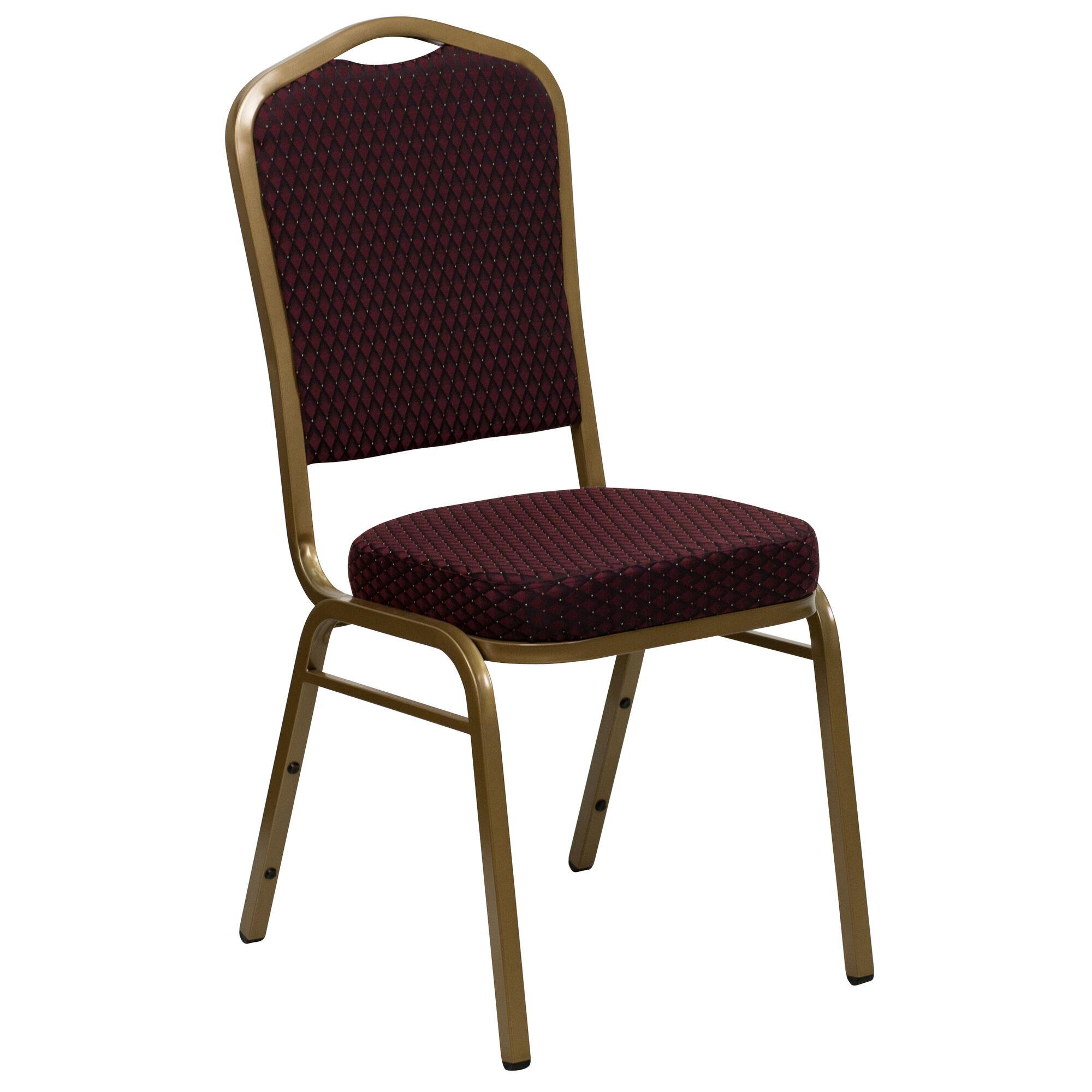 Burgundy Fabric Banquet Chair FD C01 ALLGOLD EFE1679 GG