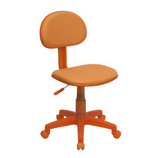 Orange Fabric Swivel Task Office Chair