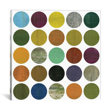 Rustic Rounds 4.0 by Michelle Calkins Gallery Wrapped Canvas Artwork