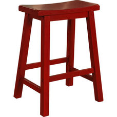 Saddle Stool - Crimson Red