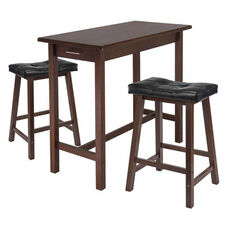 3-Pc Breakfast Table Set with 2 Stools