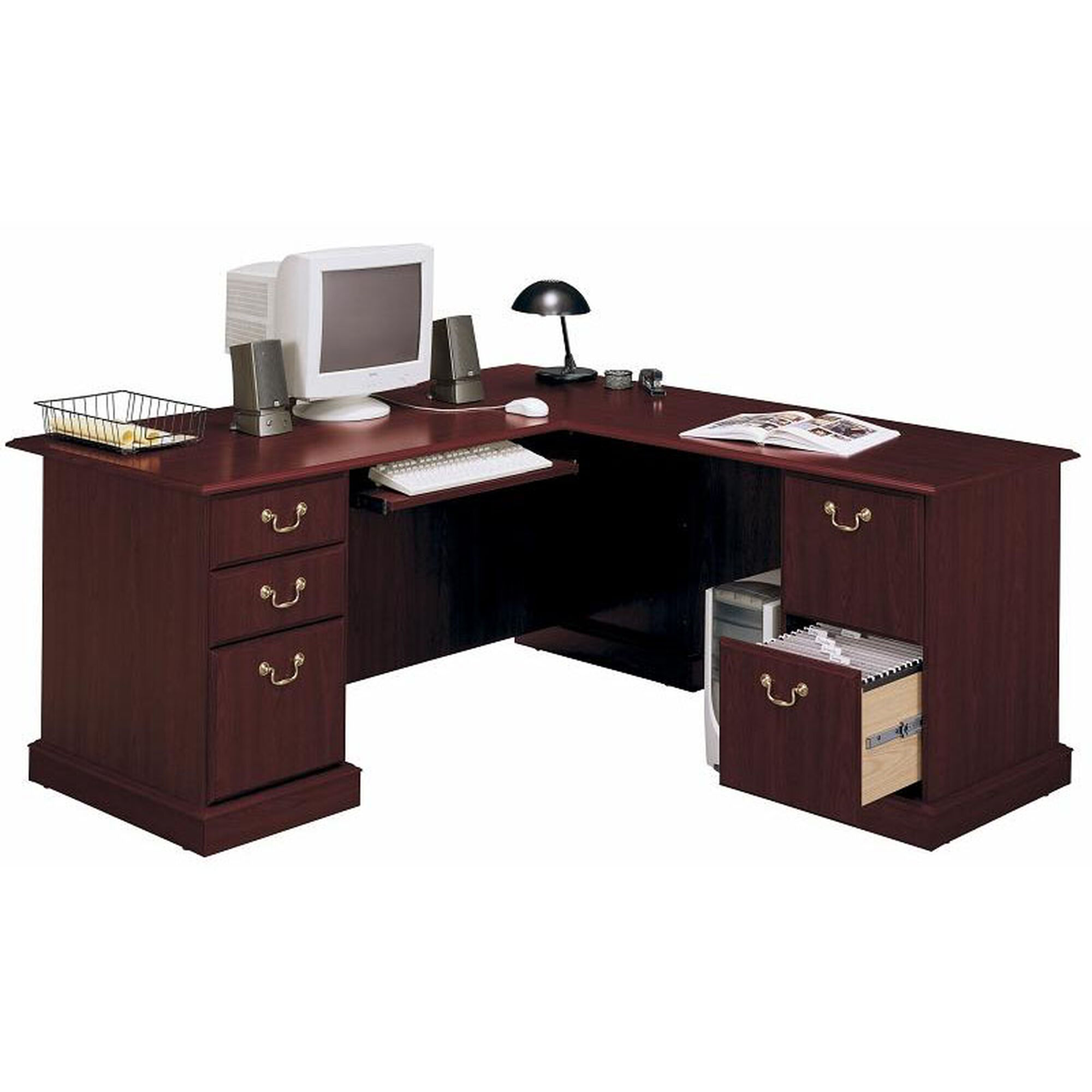 Exec L Desk Multiple Storage Ex45670 03k Bizchair Com