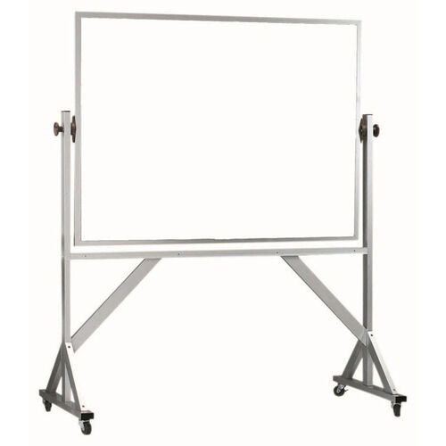 Our Reversible Free Standing White Porcelain Marker Board with Aluminum Frame - 48
