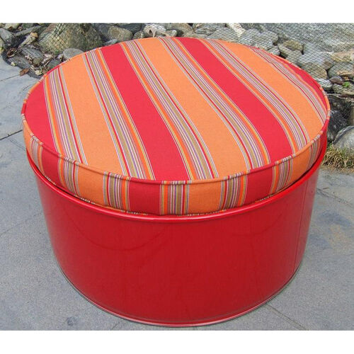 Our Salsa Steel Drum Ottoman with Multicolor Accents is on sale now.