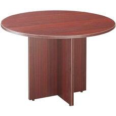 Mahogany Round Conference Table