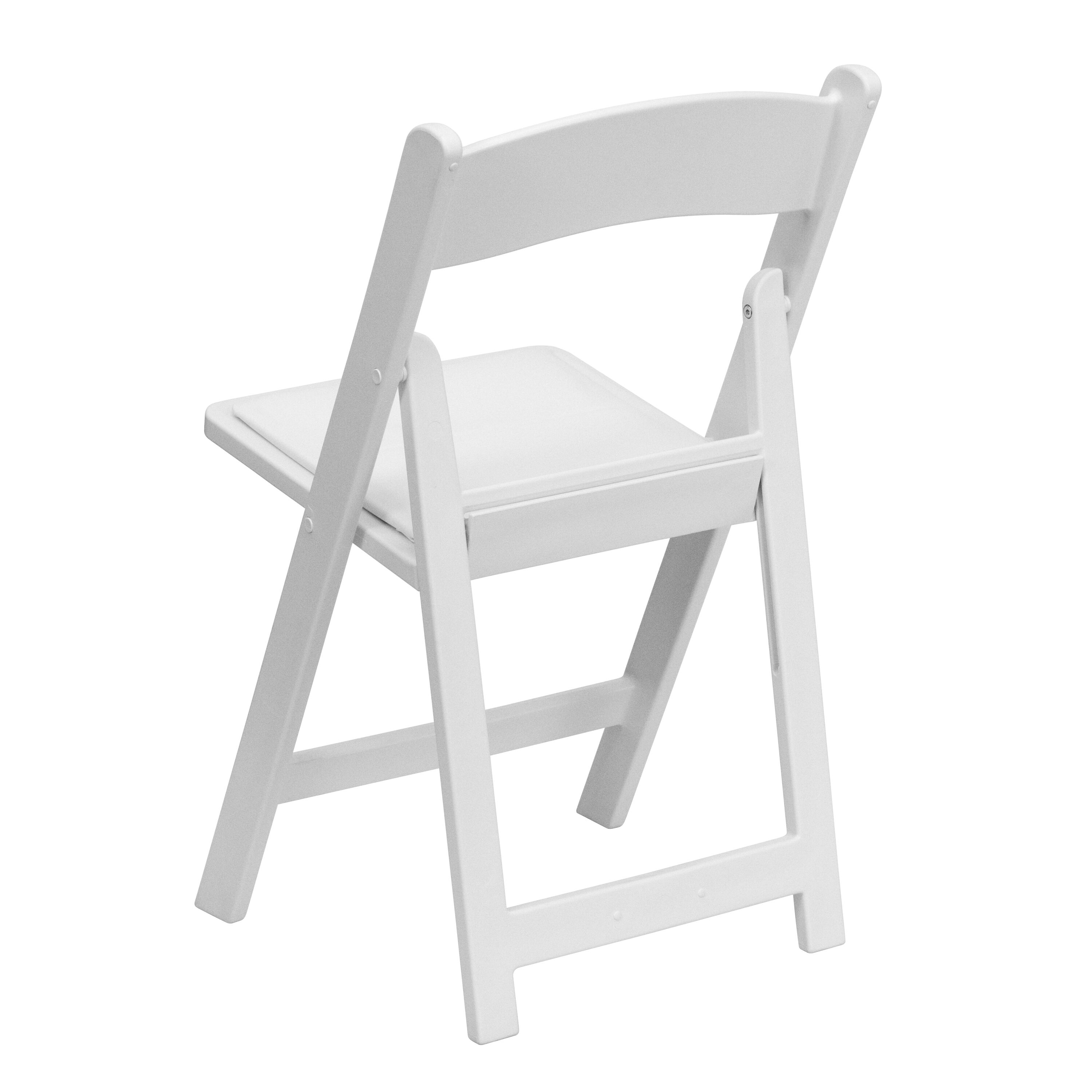 Capacity White Resin Folding Chair with White Vinyl Padded Seat ...  sc 1 st  Bizchair.com : resin folding chair - Cheerinfomania.Com