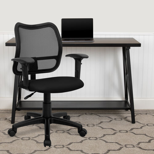 Our Mid-Back Mesh Swivel Task Office Chair with Adjustable Arms is on sale now.