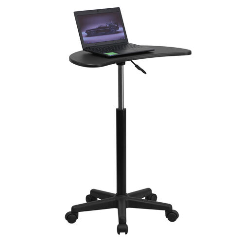 Our Black Sit to Stand Mobile Laptop Computer Desk is on sale now.