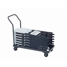 Welded Iron Folding Chair Truck with 4'' Casters and Handle - 18''D x 40''W
