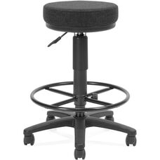 Adjustable Height UtiliStool with Stain Resistant Fabric and Drafting Kit - Black
