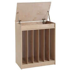 Birch Oversized Book and Poster Display and Storage Unit with Dry Erase Board Front