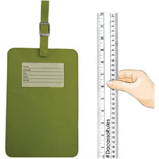 Colors Faux Leather Travelers Envy King Sized Luggage Tag - Lime Green