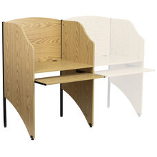 Starter Study Carrel in Oak Finish