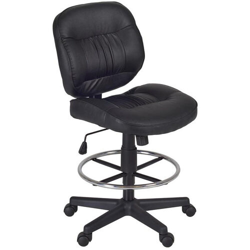 Our Cirrus Height Adjustable Armless Task Stool with Footrest - Black Vinyl is on sale now.