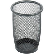 Onyx™ Round Mesh Wastebasket - Set of Three - Black