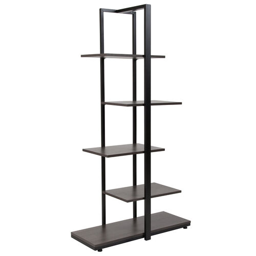 Our Homewood Collection 5 Tier Decorative Etagere Storage Display Unit Bookcase with Black Metal Frame in Driftwood Finish is on sale now.