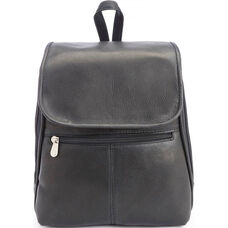 Tablet iPad Travel Backpack - Colombian Vaquetta Leather - Black