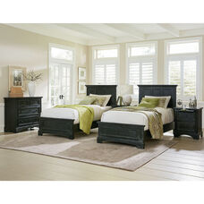 Inspired By Bassett Farmhouse Basics Double Twin Bedroom Set with 2 Twin Beds, 2 Nightstands and 1 Chest