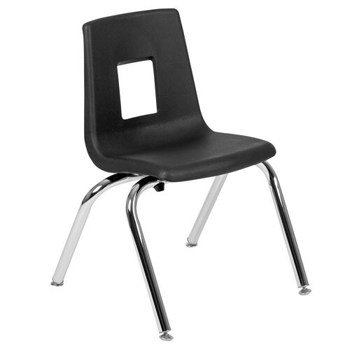 Our Advantage Black Student Stack School Chair - 14-inch is on sale now.