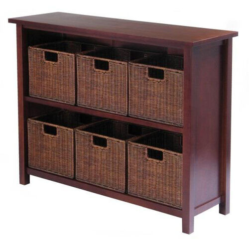 Our Milan 2-Tier Wide Shelf with 6 Baskets is on sale now.