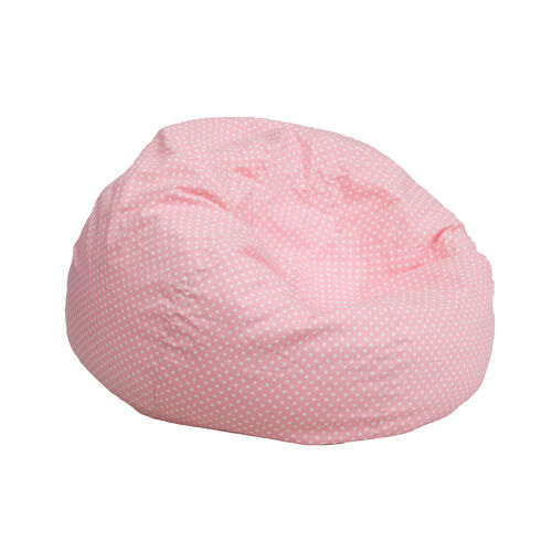 Our Small Light Pink Dot Bean Bag Chair for Kids and Teens is on sale now.
