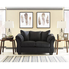 Signature Design by Ashley Darcy Loveseat in Black Microfiber