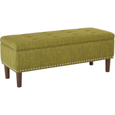 Ave Six Bryant Bench with Tapered Legs - Green
