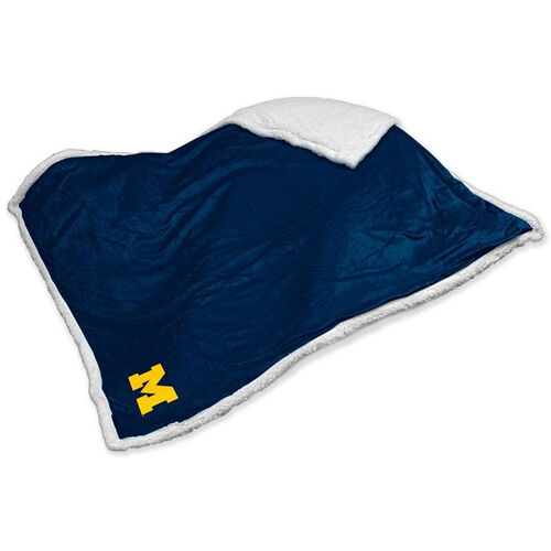 University of Michigan Team Logo Sherpa Throw