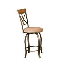 Hamilton Swivel Counter Stool - Brushed Medium Cherry with Diamond Pattern Taupe and Beige Fabric