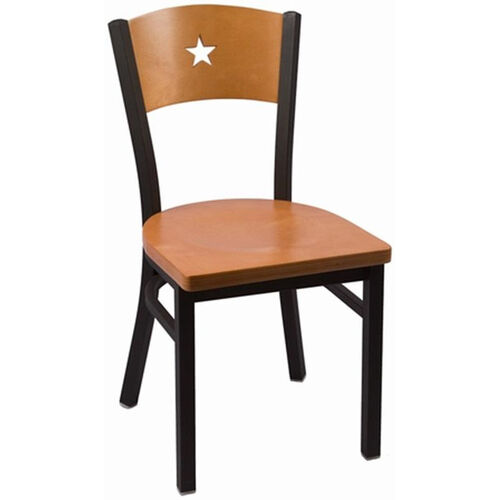 Our Liberty Series Wood Back Armless Chair with Steel Frame and Wood Seat - Natural is on sale now.
