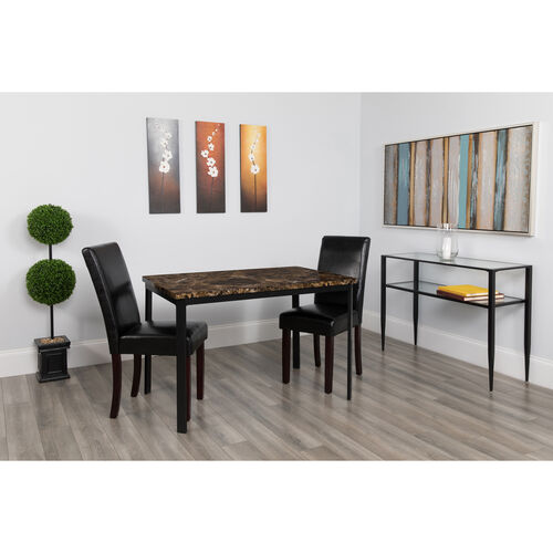 "Our Avalon 30"" x 45.75"" Rectangular Dining Table in Espresso Marble-Like Finish is on sale now."