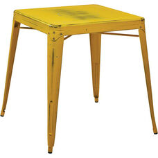 OSP Designs Bristow Antique Metal Table - Antique Yellow