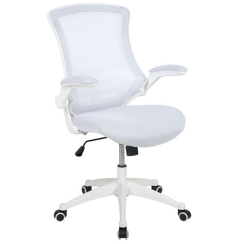 Our Mid-Back White Mesh Swivel Ergonomic Task Office Chair with White Frame and Flip-Up Arms is on sale now.