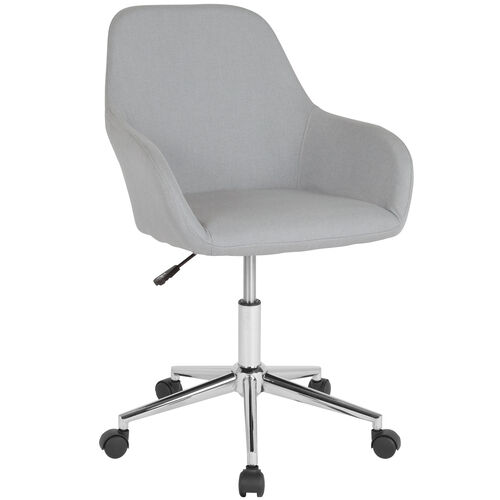 Our Cortana Home and Office Mid-Back Chair in Light Gray Fabric is on sale now.