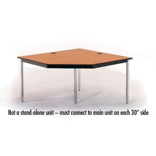 5 Sided Laminate Top Computer Table Corner Unit- 48
