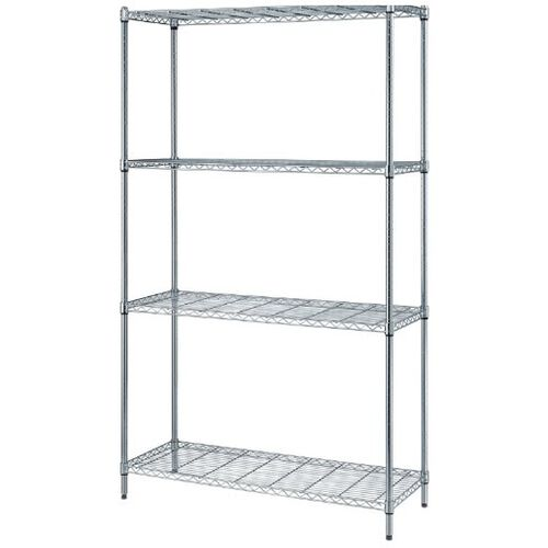 "Our 4-Shelf Adjustable Wire Shelving Unit with Chrome Finish - 300 lb. Load Capacity per Shelf - 48""W x 24""D x 72""H is on sale now."