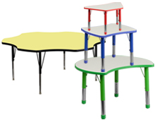 activity tables in various shapes