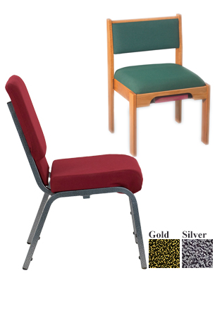 Wood and Metal Frame Chairs