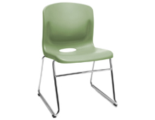 classroom student chair with sled base