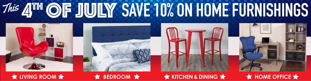 BizChair Home Furnishing 4th Of July Sale