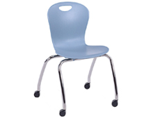 classroom student chair with casters