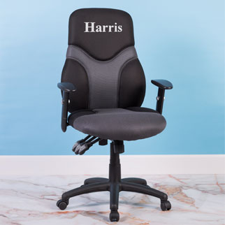 Personalized office chair with arms