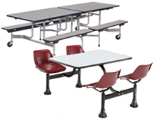 folding and non-folding cafeteria tables
